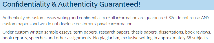 Guarantees CheapWritingService.com
