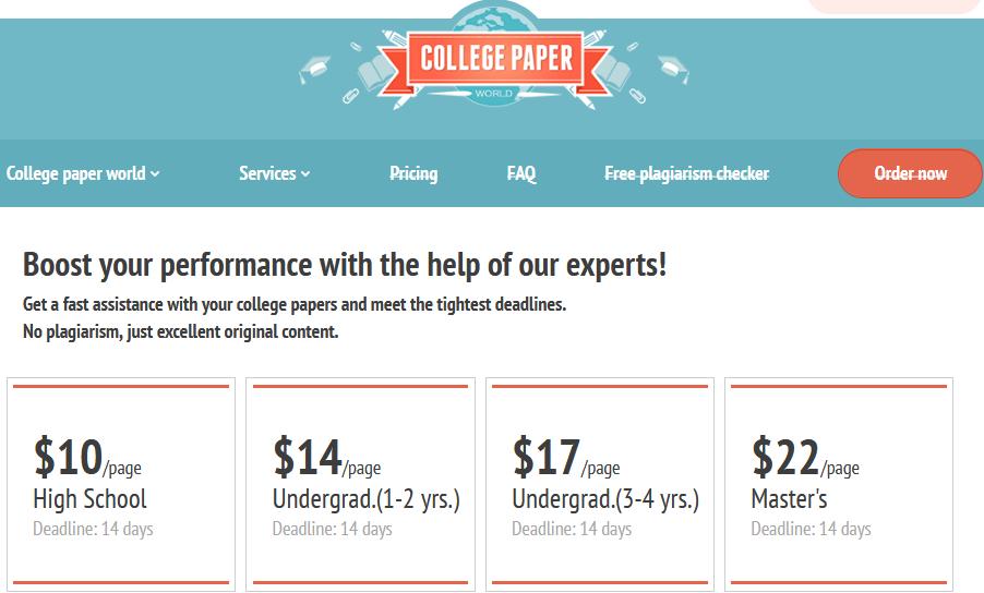 CollegePaperWorld.com Review